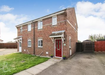 Thumbnail 2 bed semi-detached house for sale in Buxton Close, Easton, Norwich