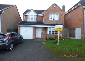 Thumbnail 4 bed detached house to rent in Hawthorn Close, Measham, Swadlincote