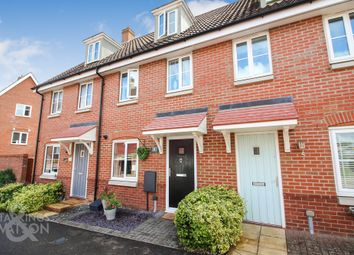 Thumbnail 3 bed town house for sale in Dunnock Drive, Queens Hills, Costessey