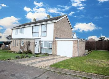 Thumbnail 3 bed semi-detached house for sale in Orchard Way, Wymondham