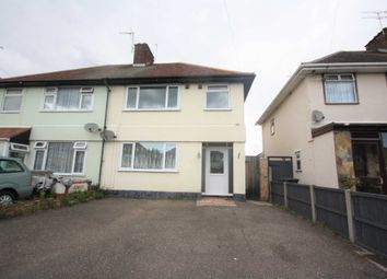 Thumbnail 3 bed semi-detached house to rent in Caulfield Road, Shoeburyness, Southend-On-Sea