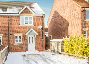 Thumbnail 2 bed semi-detached house for sale in Walter Close, Great Glen, Leicester