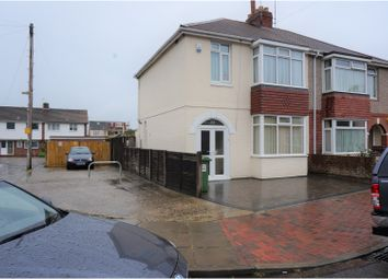 Thumbnail 3 bedroom semi-detached house for sale in Monckton Road, Portsmouth