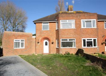 Thumbnail 4 bedroom semi-detached house for sale in Nutley Close, Goring By Sea, Worthing