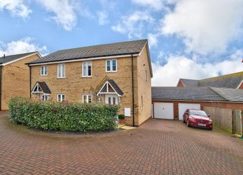Thumbnail 3 bed semi-detached house for sale in Joyce Close, Bedford