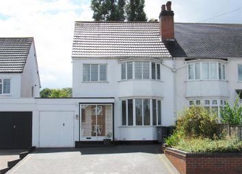 Thumbnail 3 bed semi-detached house for sale in Ulverley Green Road, Solihull