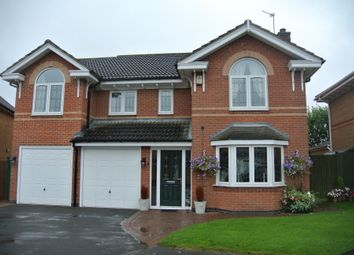 Thumbnail 5 bed detached house for sale in Yew Close, Leicester Forest East