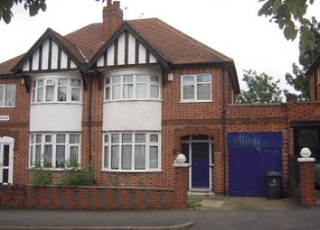 Thumbnail 3 bed semi-detached house to rent in Kingswood Avenue, Western Park, Leicester