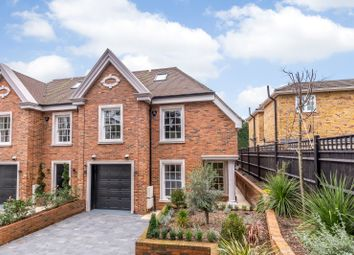 Thumbnail 3 bed end terrace house for sale in Cavendish Road, St. Georges Hill, Weybridge