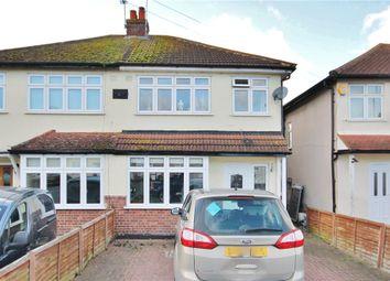 Thumbnail 3 bed semi-detached house for sale in Spelthorne Lane, Ashford, Surrey