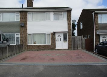 Thumbnail 3 bed end terrace house to rent in Kilndown Close, Allington, Maidstone