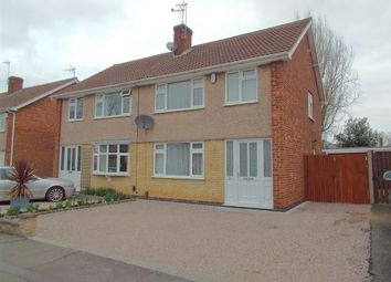 Thumbnail 3 bed semi-detached house for sale in Olympic Close, Glenfield, Leicester, Leicestershire