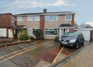 Thumbnail 3 bed semi-detached house for sale in Chilton Drive, Middleton, Greater Manchester