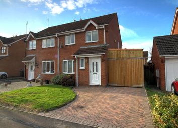 Thumbnail 3 bed semi-detached house for sale in Crowfoot Way, Broughton Astley, Leicester
