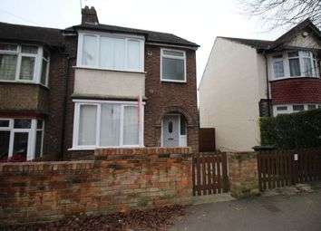 Thumbnail 3 bed semi-detached house to rent in Hillborough Road, Luton