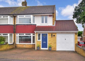 Thumbnail 4 bed semi-detached house for sale in Lynton Drive, Lords Wood, Chatham, Kent