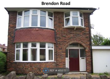 Thumbnail Room to rent in Brendon Road, Nottingham