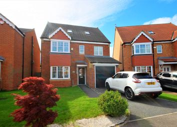 Thumbnail 5 bed detached house for sale in Ellesmere Close, Fencehouses, Houghton Le Spring