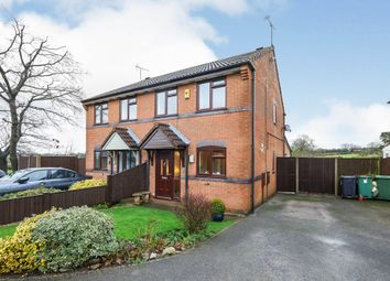 Thumbnail 3 bed semi-detached house for sale in Meadow Close, Horsley Woodhouse, Ilkeston