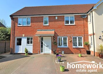 Thumbnail 4 bed end terrace house for sale in Riverside Close, Dereham