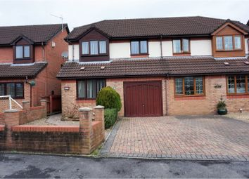 Thumbnail 3 bed semi-detached house for sale in Ynys Hir, Coed Y Cwm