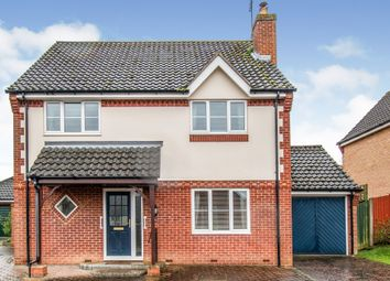 Thumbnail 4 bed detached house for sale in Sears Close, Aylsham, Norwich
