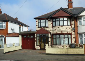 Thumbnail 3 bedroom semi-detached house for sale in Evington Road, Leicester