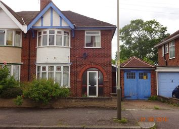 Thumbnail 3 bed semi-detached house for sale in Peters Drive, Uppingham Rd Leicester