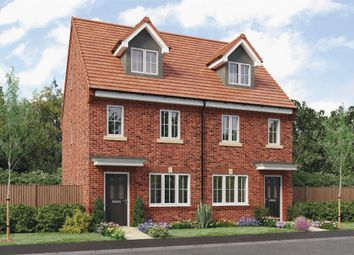 "Thumbnail 3 bedroom town house for sale in ""Tolkien"" at Leeds Road, Thorpe Willoughby, Selby"