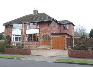Thumbnail 3 bed semi-detached house for sale in Brook Road, Trentham, Stoke-On-Trent