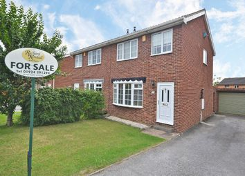 Thumbnail 3 bed semi-detached house for sale in Woodmoor Drive, Crigglestone, Wakefield