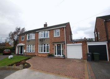 Thumbnail 3 bed semi-detached house for sale in Widdrington Gardens, Wideopen, Newcastle Upon Tyne