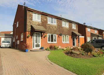Thumbnail 3 bed semi-detached house for sale in The Spinney, Brackla, Bridgend.