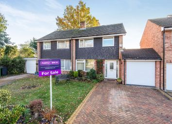 Thumbnail 3 bed semi-detached house for sale in Ambleside Close, Camberley