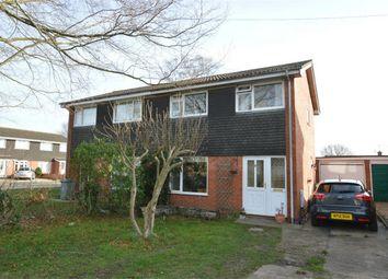 Thumbnail 3 bed semi-detached house for sale in Laburnum Close, Horsford, Norwich, Norfolk