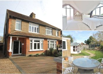 Thumbnail 4 bed semi-detached house for sale in Penton Road, Staines Upon Thames, Middlesex