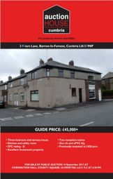 Thumbnail 3 bed terraced house for sale in Friars Lane, Barrow In Furness, Cumbria