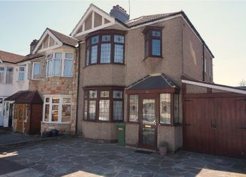 Thumbnail 3 bed semi-detached house for sale in Emmott Avenue, Ilford