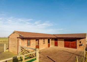 Thumbnail 3 bed equestrian property for sale in Mill Road, Murrow, Wisbech
