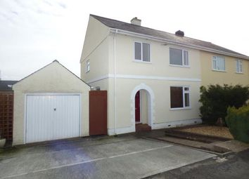 Thumbnail 4 bed semi-detached house for sale in Lon Ganol, Menai Bridge, Anglesey, North Wales
