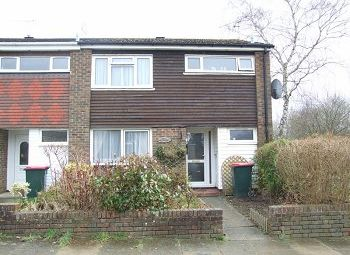 Thumbnail 3 bed end terrace house to rent in Greenacres, Furnace Green, Crawley, West Sussex