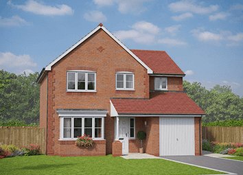 Thumbnail 4 bed detached house for sale in Village Road, Northop Hall, Flintshire