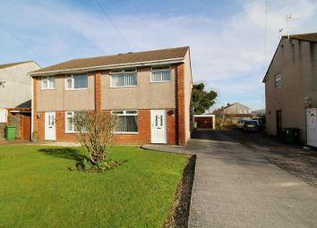 Thumbnail 3 bed semi-detached house for sale in Cynan Close, Beddau, Pontypridd