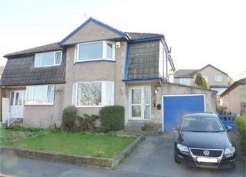 Thumbnail 3 bed semi-detached house for sale in Spring Close, Long Lee, Keighley, West Yorkshire