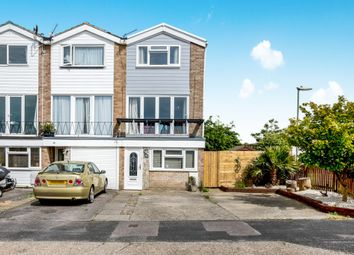 Thumbnail 4 bed end terrace house for sale in Churcher Close, Gosport