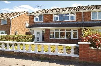 Thumbnail 3 bed semi-detached house to rent in St Nicholas Drive, Wybers Wood, Grimsby