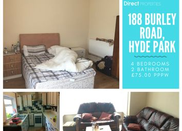 Thumbnail 4 bed terraced house to rent in Burley Road, Burley, Leeds