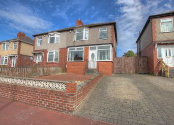 Thumbnail 3 bed semi-detached house for sale in Baroness Drive, Newcastle Upon Tyne