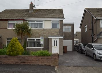 Thumbnail 4 bed semi-detached house for sale in Leece Drive, Dalton-In-Furness, Cumbria