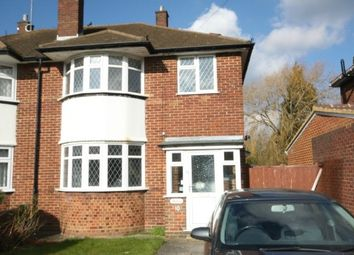 Thumbnail 3 bed semi-detached house to rent in Longfield Drive, Luton
